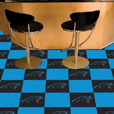 NFL Team 18 x 18 Carpet Tile NFL Team: Carolina Panthers