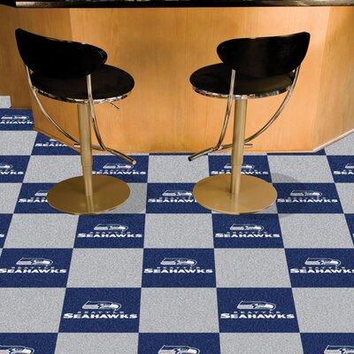 NFL Team 18 x 18 Carpet Tile NFL Team: Seattle Seahawks
