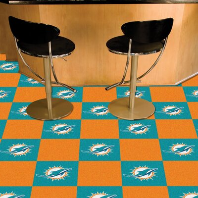 NFL Team 18 x 18 Carpet Tile NFL Team: Miami Dolphins