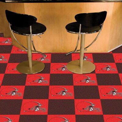 NFL Team 18 x 18 Carpet Tile NFL Team: Cleveland Browns