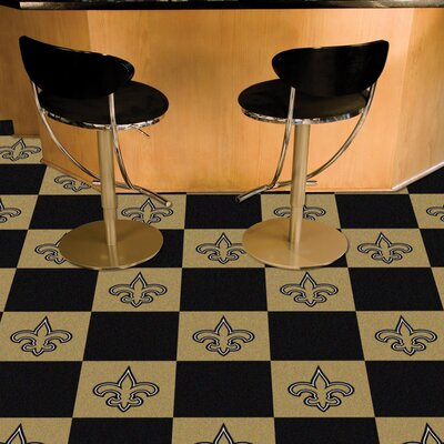 NFL Team 18 x 18 Carpet Tile NFL Team: New Orleans Saints