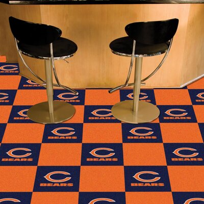 NFL Team 18 x 18 Carpet Tile NFL Team: Chicago Bears