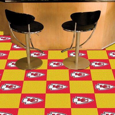 NFL Team 18 x 18 Carpet Tile NFL Team: Kansas City Chiefs
