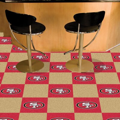 NFL Team 18 x 18 Carpet Tile NFL Team: San Francisco 49ers