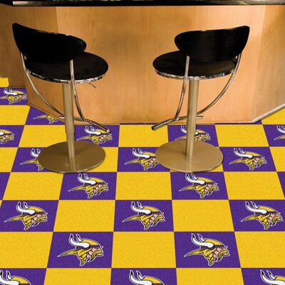 NFL Team 18 x 18 Carpet Tile NFL Team: Minnesota Vikings