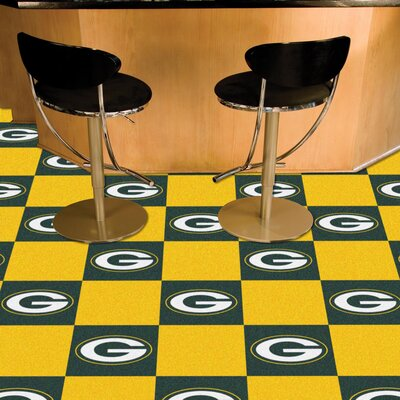 NFL Team 18 x 18 Carpet Tile NFL Team: Green Bay Packers