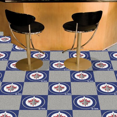 NHL - Nashville Predators Team Carpet Tiles NHL Team: Winnipeg Jets