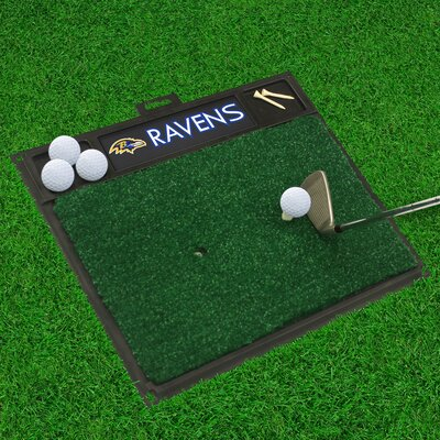 NFL - Golf Hitting Mat NFL Team: Baltimore Ravens