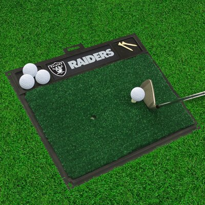 NFL - Golf Hitting Mat NFL Team: Oakland Raiders