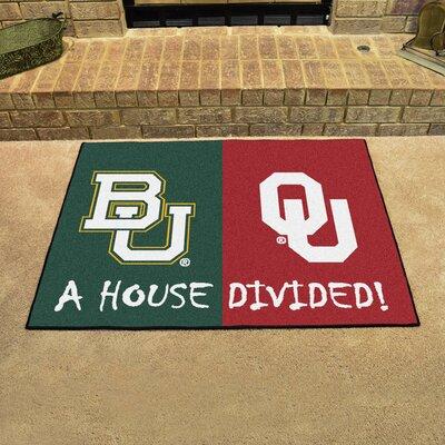 NCAA House Divided: Baylor / Oklahoma House Divided Mat 16218