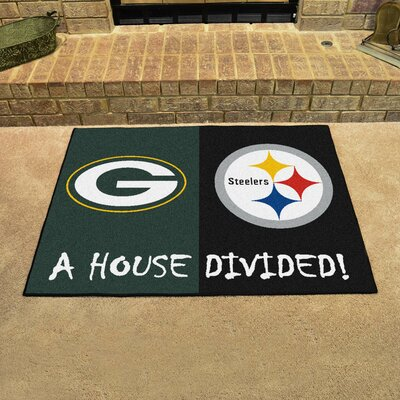 NFL House Divided - Packers / Steelers House Divided Mat