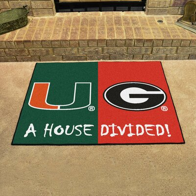 NCAA House Divided: Miami / Georgia House Divided Mat