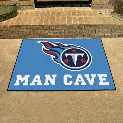 NFL - Tennessee Titans Man Cave Starter Rug Size: 17 x 26