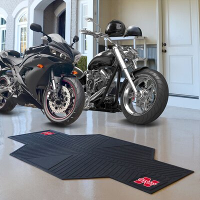 NCAA University of Nebraska Motorcycle Motorcycle Utility Mat