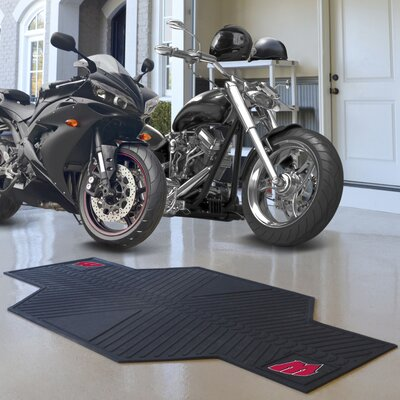 NCAA University of Wisconsin Motorcycle Utility Mat