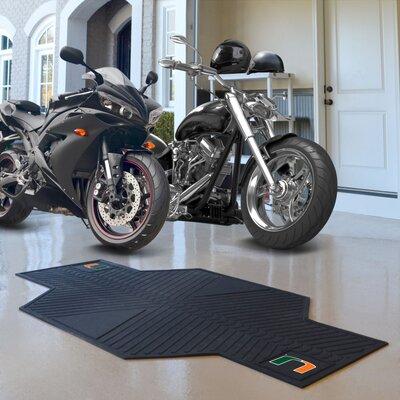 NCAA University of Miami Motorcycle Utility Mat