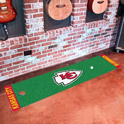 NFL Kansas City Chiefs Putting Green Mat