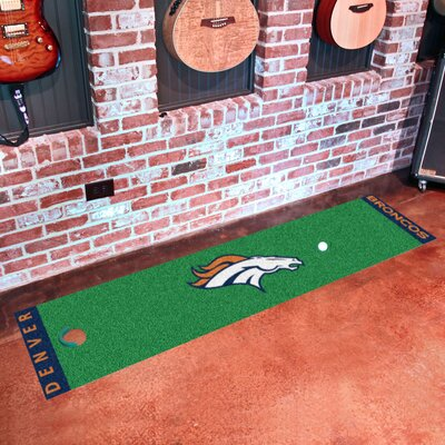 NFL Denver Broncos Putting Green Mat 9010