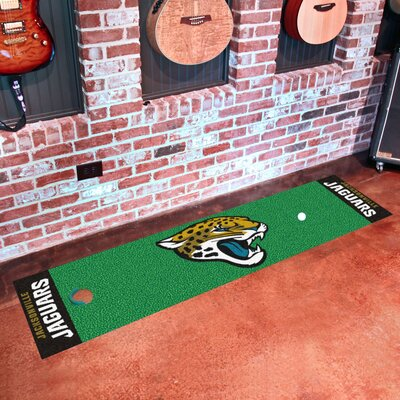 NFL Jacksonville Jaguars Putting Green Mat 9015