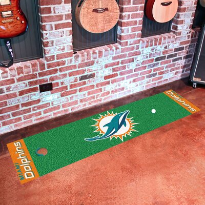 NFL Miami Dolphins Putting Green Mat