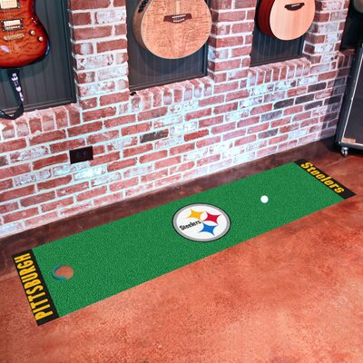 NFL Pittsburgh Steelers Putting Green Mat