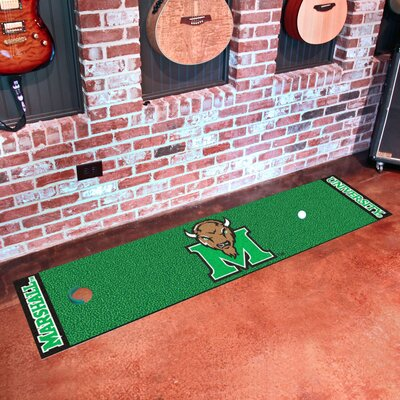 Collegiate NCAA Syracuse University Putting Green Doormat NCAA Team: Marshall