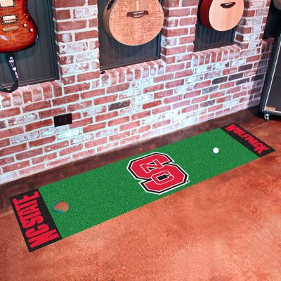 Collegiate NCAA Syracuse University Putting Green Doormat NCAA Team: North Carolina State