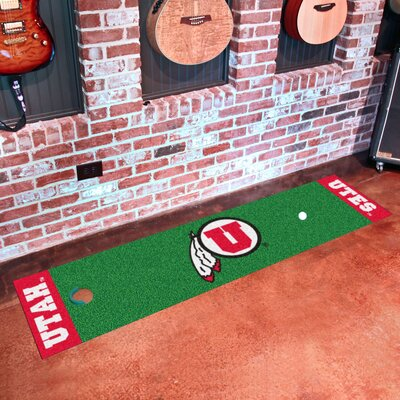 Collegiate NCAA Syracuse University Putting Green Doormat NCAA Team: Utah