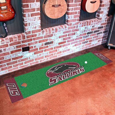 Collegiate NCAA Syracuse University Putting Green Doormat NCAA Team: Southern Illinois University