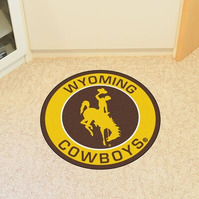 NCAA University of Wyoming Roundel Mat