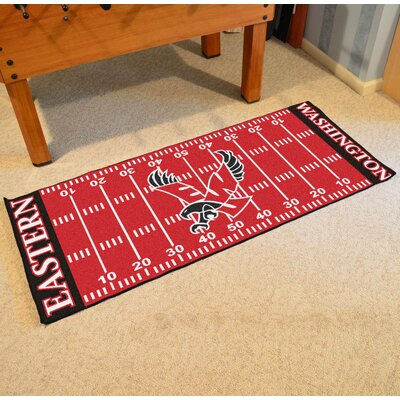 NCAA Eastern Washington University Football Mat Mat Size: Rectangle 25.5 x 6