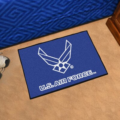 MIL U.S. Air Force Doormat Mat Size: 18 x 26