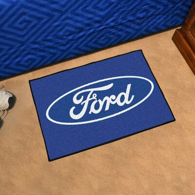 Ford - Ford Oval Tailgater Mat Rug Size: 17 x 26