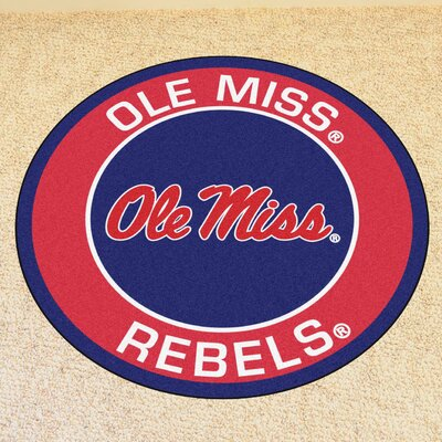 NCAA University of Mississippi (Ole Miss) Roundel Mat