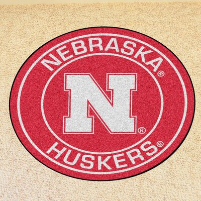 NCAA University of Nebraska Roundel Mat