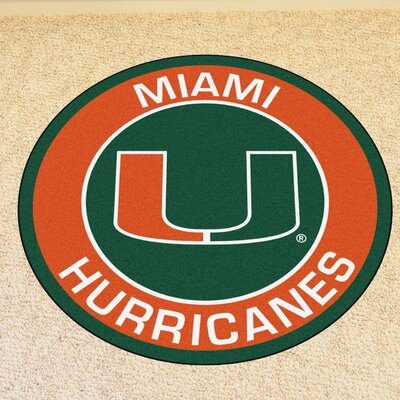 NCAA University of Miami Roundel Mat