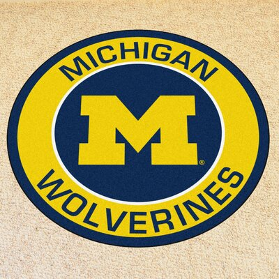 NCAA University of Michigan Roundel Mat