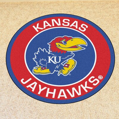 NCAA University of Kansas Roundel Mat