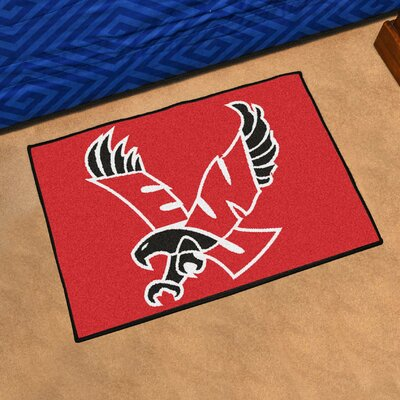 NCAA Eastern Washington University Basketball Mat Rug Size: 17 x 2 6