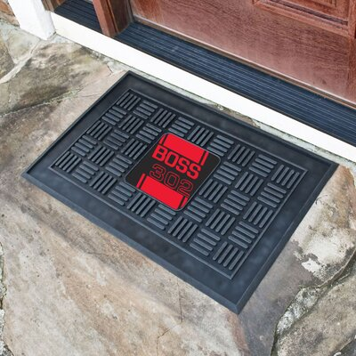 Ford - Boss 302 Medallion Doormat Color: Red