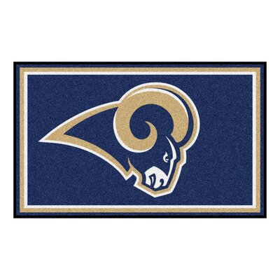 NFL - Los Angeles Rams 4x6 Rug Mat Size: 4 x 6
