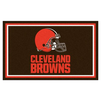 NFL - Cleveland Browns 4x6 Rug Mat Size: 4 x 6