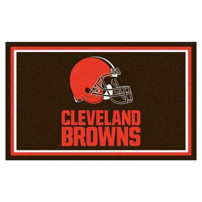 NFL - Cleveland Browns 4x6 Rug Rug Size: 4 x 6