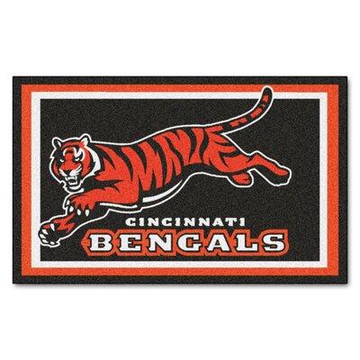 NFL - Cincinnati Bengals 5x8 Rug Mat Size: 4 x 6