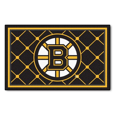 NHL - Boston Bruins 5x8 Rug Mat Size: 310 x 6