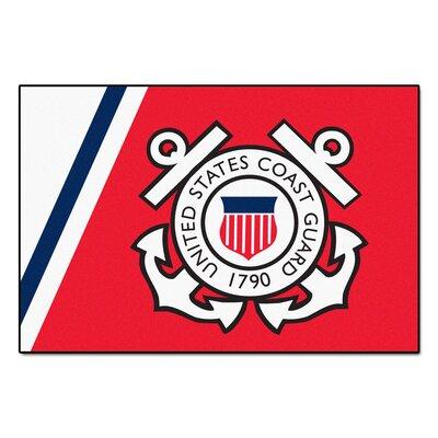 MIL U.S. Coast Guard 5x8 Doormat Mat Size: 4 x 6
