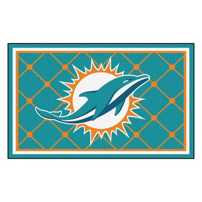 NFL - Miami Dolphins 4x6 Rug Mat Size: 4 x 6