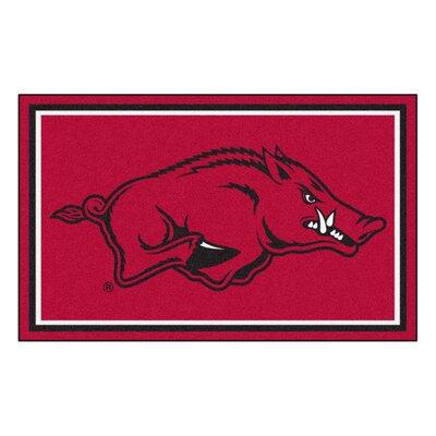 NCAA University of Arkansas Rug Rug Size: 5 x 78