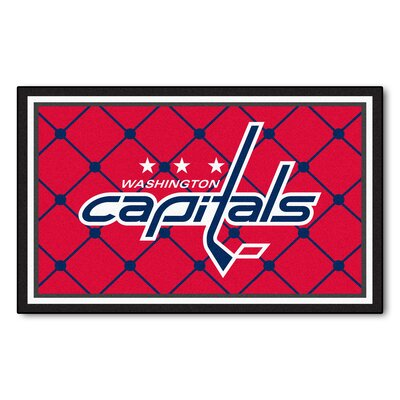 NHL - Washington Capitals 5x8 Doormat Mat Size: 310 x 6