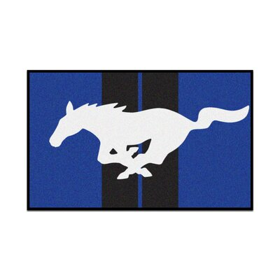 Ford - Mustang Horse Tailgater Mat Rug Size: 5 x 6